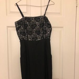 Laundry by Shelli Segal B&W Lace Top Dress Size 4